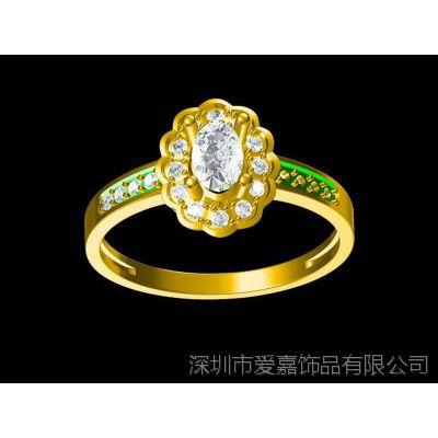 999纯银男戒指设计 女戒指 女性戴金戒指—水晶首饰定做厂家