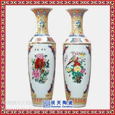 景德镇创意现代新中式陶瓷花瓶 中式家居电视柜装饰品
