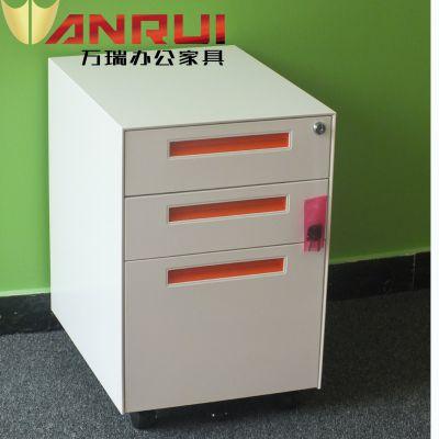 洛阳万瑞 钢制 活动柜 三抽 办公室活动文件柜 矮柜