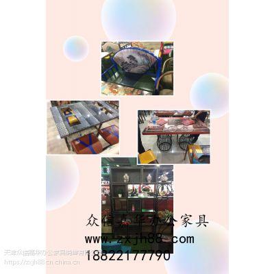 天津众信嘉华办公家具定做定制屏风工位阅览室桌椅款式新颖