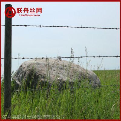 河北联舟供应牧场隔离铁蒺藜 农田防护刺铁丝 镀锌刺绳刺线