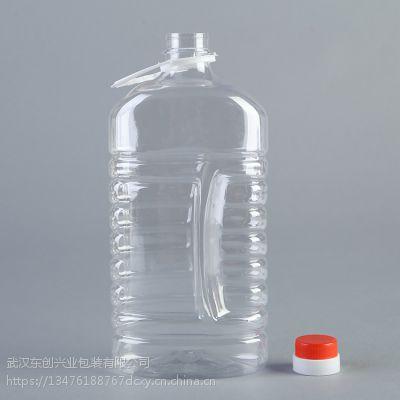 武汉厂家直销1.6升酒壶PET透明塑料瓶压盖带提手 质量保证