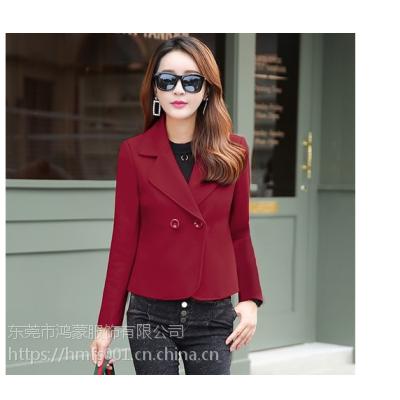 女装秋冬装2018新款潮25岁30韩版短装上衣服小款毛呢子短外套