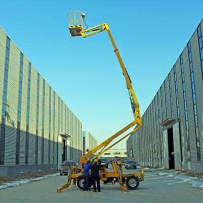 拖车折臂型高空作业梯QYZB-10质量保证,厂家直销