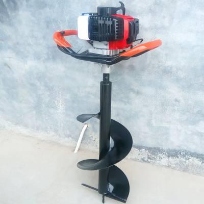 立柱式施肥挖坑机 耐磨性强汽油打眼机 双人手提式挖坑机