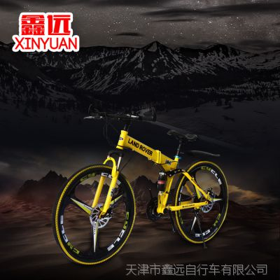 路虎26寸山地车自行车双碟刹双减震21速24速27速促销活动厂家批发