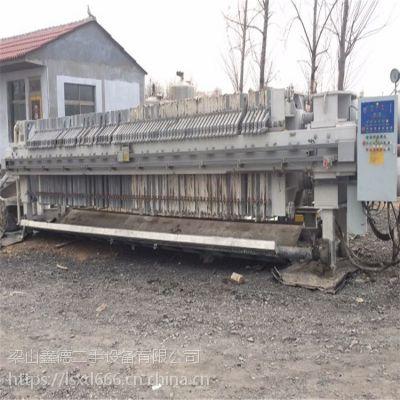 江西出售二手压滤机二手板框式自动压滤机 污泥处理设备