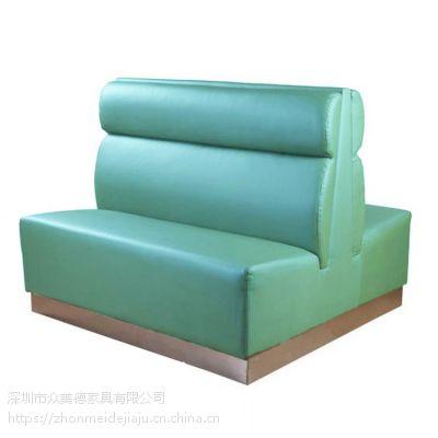 众美德生产各类餐厅卡座沙发,简约休闲会所布艺沙发,高档茶餐厅家具质量好