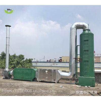 佛山涂装车间有机废气治理工程(水喷淋+光催化+活性炭吸附)