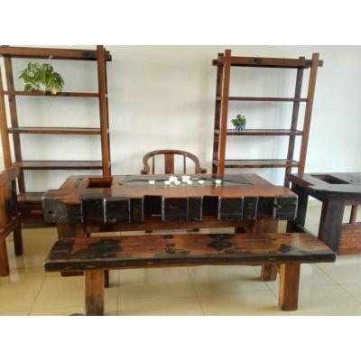 老船木海船龙骨大茶台中式复古功夫泡茶桌椅厂家直销
