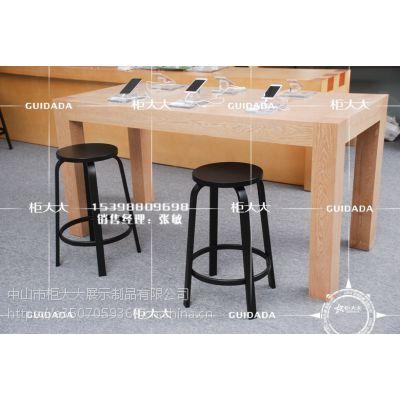 苹果黑色凳子 洽谈桌椅 厂家直销