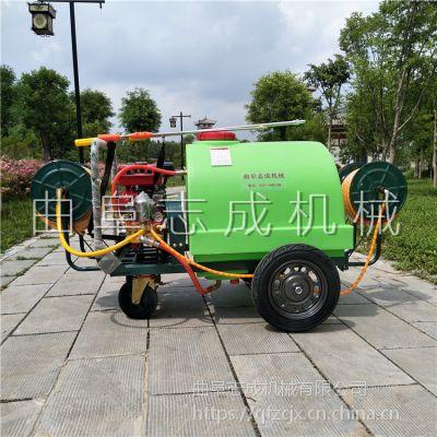 现货直供志成300L汽油打药机学校小区绿化消毒杀虫喷雾机手推式四轮喷药车