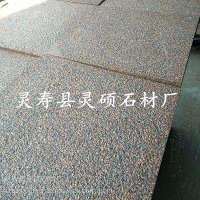 灵硕石材供应贵妃红荔枝面 红色花岗岩