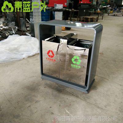 旱冰场果皮箱现货供应 青蓝茶楼垃圾桶系列