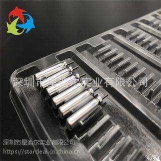 深圳实力商家现货供应一次性鱼鳔电池吸塑托盘定制电子五金吸塑包装