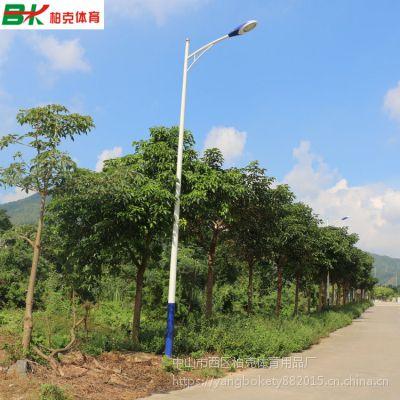 珠海篮球场10米路灯杆 柏克户外照明LED灯杆厂家 标准篮球场灯杆配6条灯柱