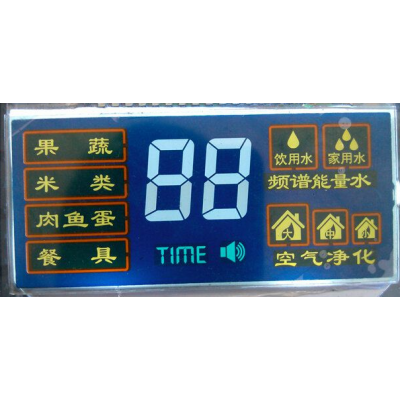 HTN负显 蓝底白字 净水器LCD液晶屏