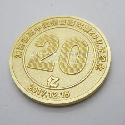 北京定制金属公司年会纪念币名人旅游纪念币厂家定制