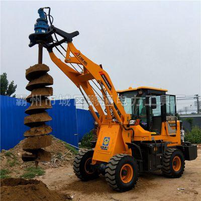 厂家直销电线杆螺旋钻孔机 快速施工 铲车上装的挖坑钻头