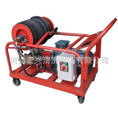 宏兴350公斤高压清洗机 手推轮移动式清洗机 根雕崖柏树枝清除设备