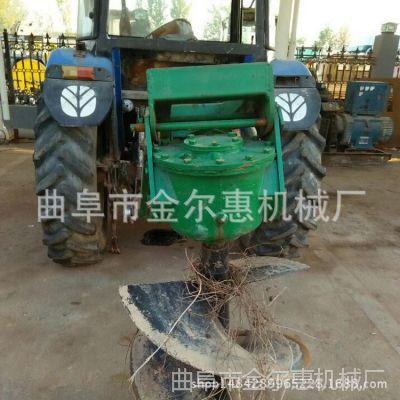 高产量旋转式钻洞机 大型四轮带动挖坑机 实用地形大型挖坑机