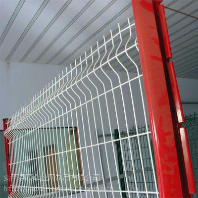 北京道路绿化隔离网 场地施工临时围栏 绿色铁丝网围栏厂家