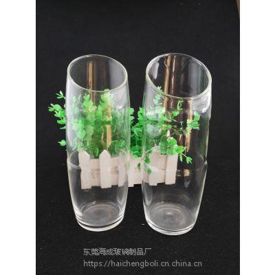 简约大号透明玻璃花瓶水培富贵竹花瓶客厅插花花瓶桌面摆件