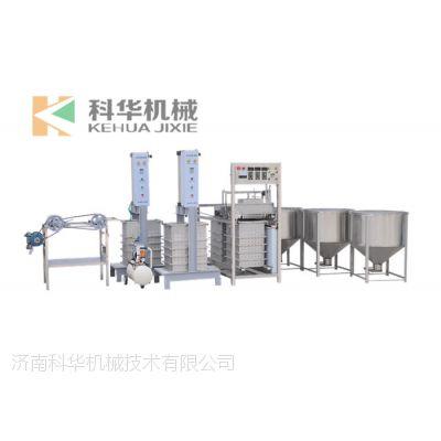 单层布生产豆腐皮生产线 商用仿手工豆腐皮机操作视频 加工豆腐皮的设备