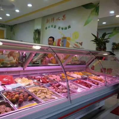 湖北敞开式展示柜鲜肉冷藏柜哪里有卖