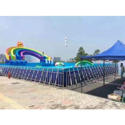 山东菏泽夏季水上乐园充气浮具狂欢冰雪世界充气水滑梯