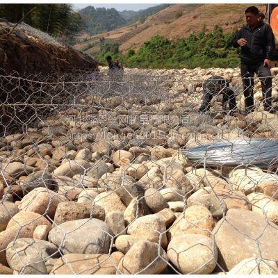 河道固岸护坡钢丝格宾石笼网 格宾网