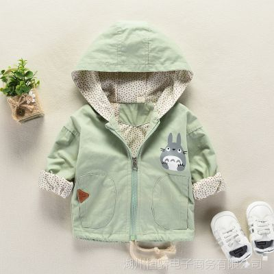 宝宝秋装外套女0一1-3岁韩版女童春秋龙猫卡通风衣婴儿秋季衣服男