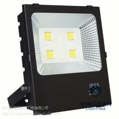 LED大功率户外球场泛光灯 50W黑金钢投光灯 广告招牌防水投射灯