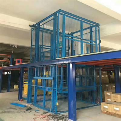 坦诺安阳楼层间载货升降平台-链条液压升降货梯生产厂家