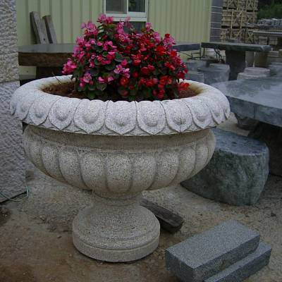 现货供应 福建石雕加工厂石头花钵 石雕花盆工艺品