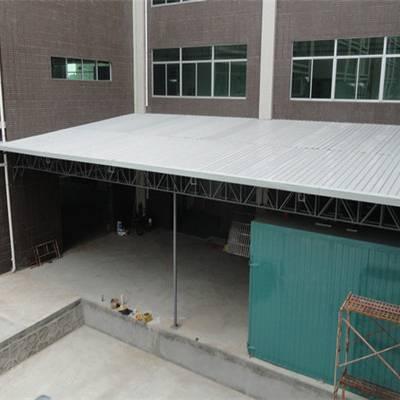 博罗钢结构停车棚 专业出货平台雨棚厂家