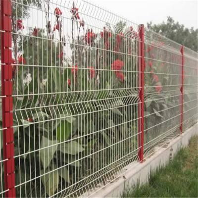 桃型柱护栏网 园林绿化围栏 小区防护网