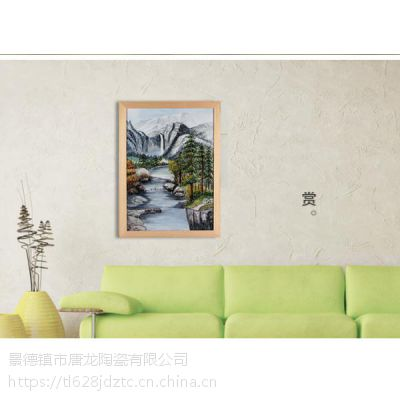油画风格瓷板画装饰 景德镇瓷板画个性定制