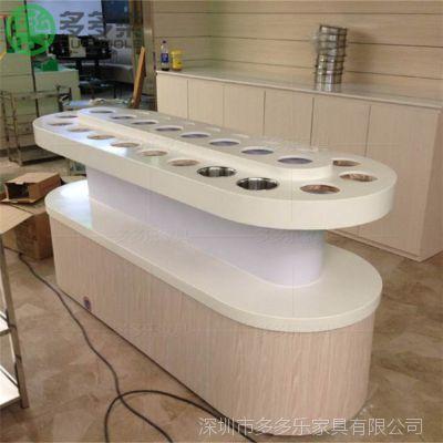 放调料品的台子 餐厅圆形调料台 火锅店简约酱料台 酒店自助放料台