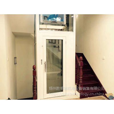 常州框架井道手拉门别墅电梯--上海三菱家用别墅乘客电梯