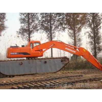 无锡有没有水陆挖掘机出租鱼塘清淤水陆两用挖掘机租赁低至价位