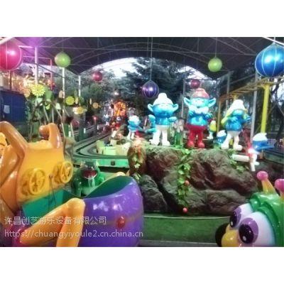 包头市美幻轨道类花海精灵游乐设备创艺热销原创可爱的精灵王国游艺设施
