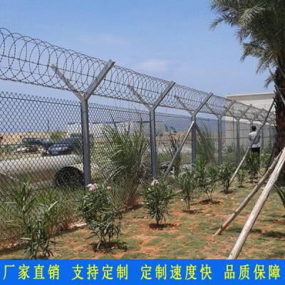 勾花网铁艺护栏厂家 海口核电厂围墙防护围栏 三亚景点隔离栅栏 勾花网护栏