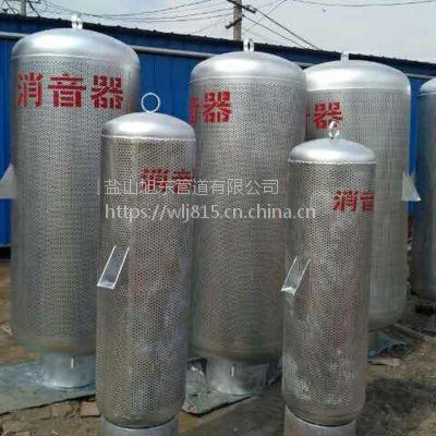 碳钢煤气消声器 管道消音器 高炉煤气放散放空消声器