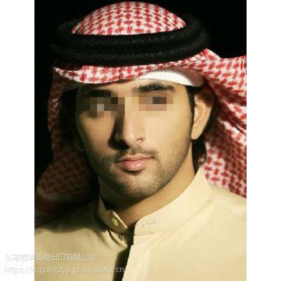 阿拉伯羊毛头箍 Arab wool head hoop+丝光棉提花头巾