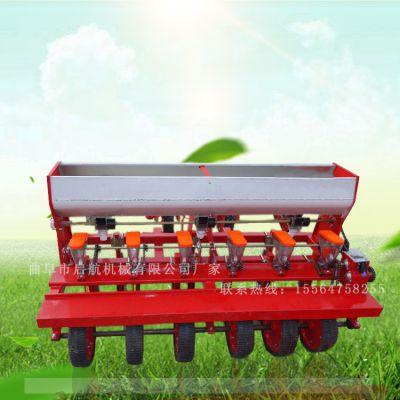 延安市多功能小麦播种机 启航牌四轮拖拉机带高粱精播机 四行胡萝卜播种机厂家