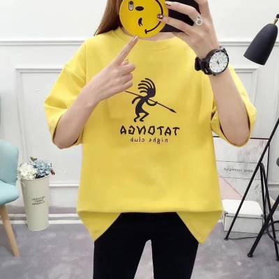 纯棉女士T恤批发库存尾货服装3元清仓广州便宜女装T恤