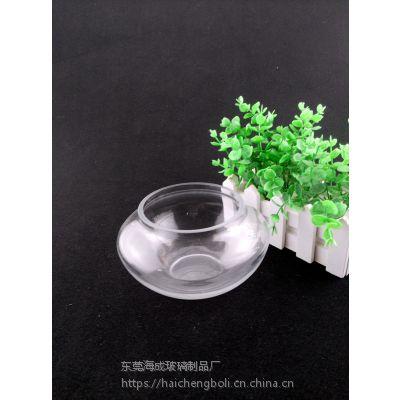 创意玻璃金鱼缸 圆形鱼缸 迷你玻璃鱼缸,吹制玻璃鱼缸