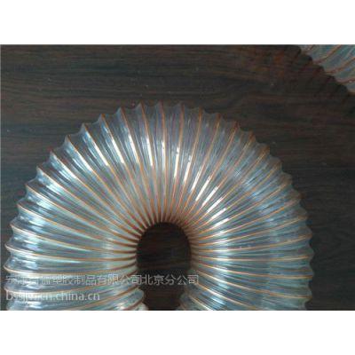 供应木工雕刻机吸尘管透明钢丝软管