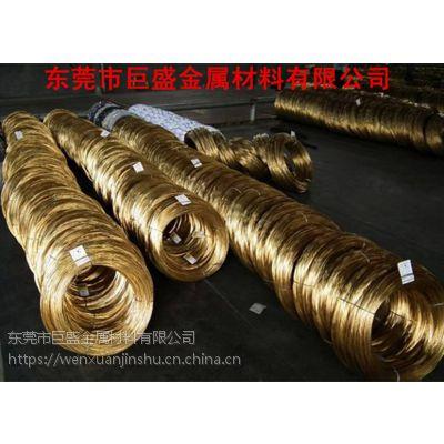 供应黄铜弹簧线 H65环保黄铜线 打弹簧专用